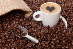 Amour de café Images libres de droits