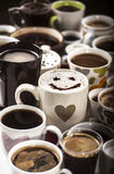 Amour de café Photographie stock