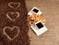 Amour de café Photographie stock
