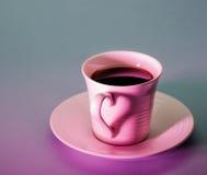 Amour de café de Valentine's Photographie stock