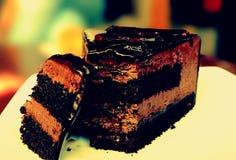 Amour de café et de gâteau Images stock