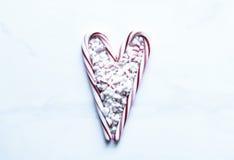 Amour de canne de sucrerie Image libre de droits