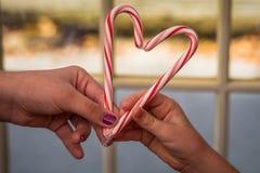 Amour de canne de sucrerie Photo libre de droits