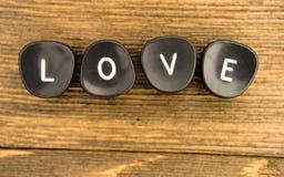 Amour de charme de lettres de clés de machine à écrire de vintage Images libres de droits