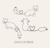 Amour de chat et de rat illustration libre de droits