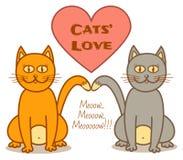 Amour de chats Photo libre de droits