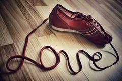 Amour de chaussure Photos stock