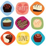 Amour de chocolat Photo libre de droits