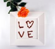 Amour de chocolat Photographie stock libre de droits