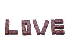 Amour de chocolat de gaufrette Photographie stock libre de droits