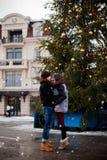 Amour de chutes de neige d'hiver Photo stock