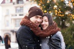 Amour de chutes de neige d'hiver Images libres de droits