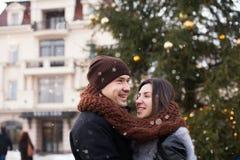 Amour de chutes de neige d'hiver Photographie stock
