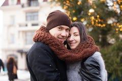 Amour de chutes de neige d'hiver Image stock