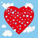 Amour de ciel de coeurs Photographie stock