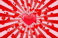Amour de coeur Photographie stock libre de droits