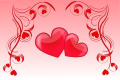 Amour de coeur illustration stock