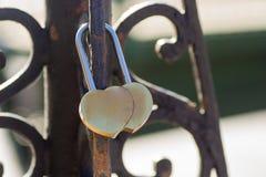 Amour de coeur de cadenas Image libre de droits