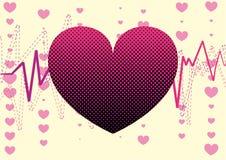 amour de coeur de fond Photos libres de droits