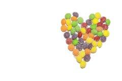Amour de coeur de sucrerie Images libres de droits