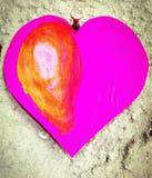 Amour de coeur pourpre Photo libre de droits