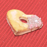 Amour de coeurs de biscuits Photos stock