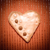 Amour de coeurs de biscuits Photo libre de droits