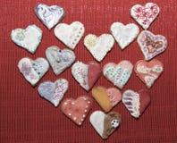 Amour de coeurs de biscuits Images libres de droits