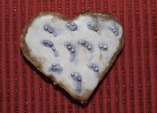 Amour de coeurs de biscuits Images stock