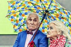 Amour de concept, couple plus âgé, hippies famille, heureuse, ensemble, Photographie stock libre de droits