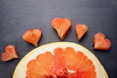 Amour de concept de fruit de pamplemousse d'agrume Photo stock