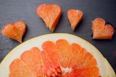 Amour de concept de fruit de pamplemousse d'agrume Image stock