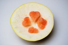 Amour de concept de fruit de pamplemousse d'agrume Photo libre de droits