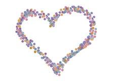 Amour de confettis Photos libres de droits