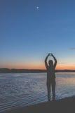Amour de coucher du soleil Photo stock
