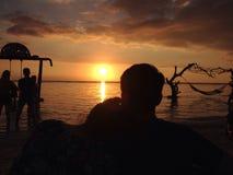 Amour de coucher du soleil Image libre de droits