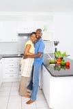 Amour de couples d'Afro-américain Images libres de droits