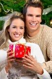 amour de couples de Noël Images libres de droits