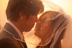 Amour de couples de Sillhouette Images libres de droits