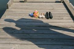 Amour de couples de Sillhouette Photo libre de droits