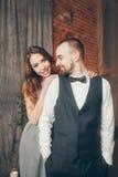 Amour de cristal de mariage Photo libre de droits