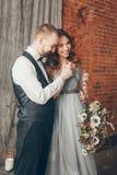 Amour de cristal de mariage Image libre de droits