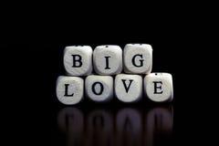 Amour de cube en textes Images libres de droits
