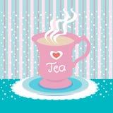 Amour de cuvette de thé Images libres de droits