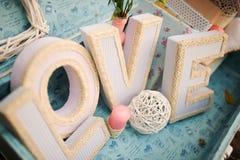 Amour de décor de mariage Photo stock