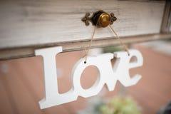 Amour de décor de mariage Photographie stock libre de droits