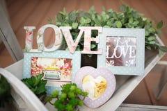 Amour de décor de mariage Image libre de droits