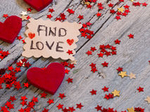 Amour de découverte Images libres de droits