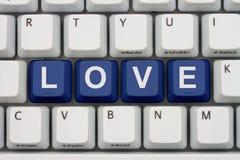 Amour de découverte sur l'Internet Image stock