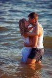 amour de danse de couples de fond au-dessus de blanc Photographie stock